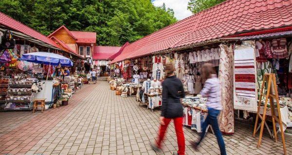 куда поехать на выходные, отдых в яремче сувенирный рынок