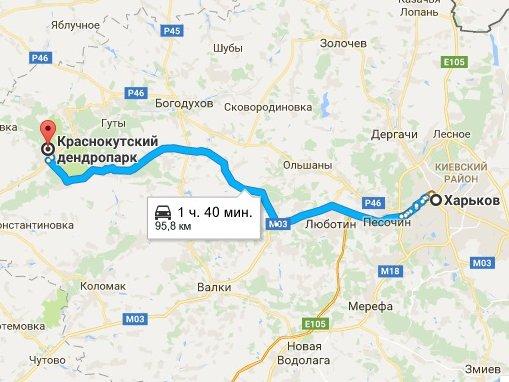 Как добраться в Краснокутський дендропарк из Харькова, куда поехать на выходные