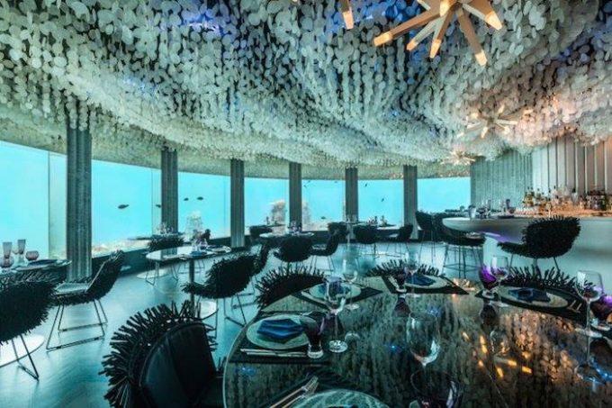 подводный ресторан мальдивы