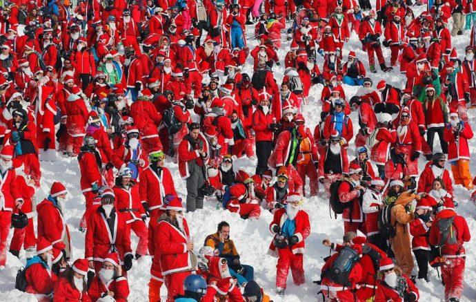 Вербье в швейцарских Альпах,Вербье, Альпы,Куда поехать на выходные, массовый спуск санта клаусов и святых николаев