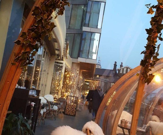Необычный ресторан в Лондоне,ресторанCoppa Club, ресторан в Лондоне, хороший ресторан в лондоне, ресторан иглу, ресторан с видом на тауэрский мост