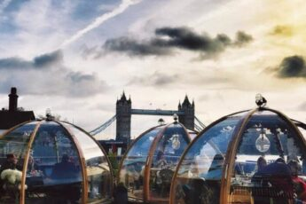 Необычный ресторан в Лондоне, ресторан в Лондоне, хороший ресторан в лондоне, ресторан иглу, ресторан с видом на тауэрский мост