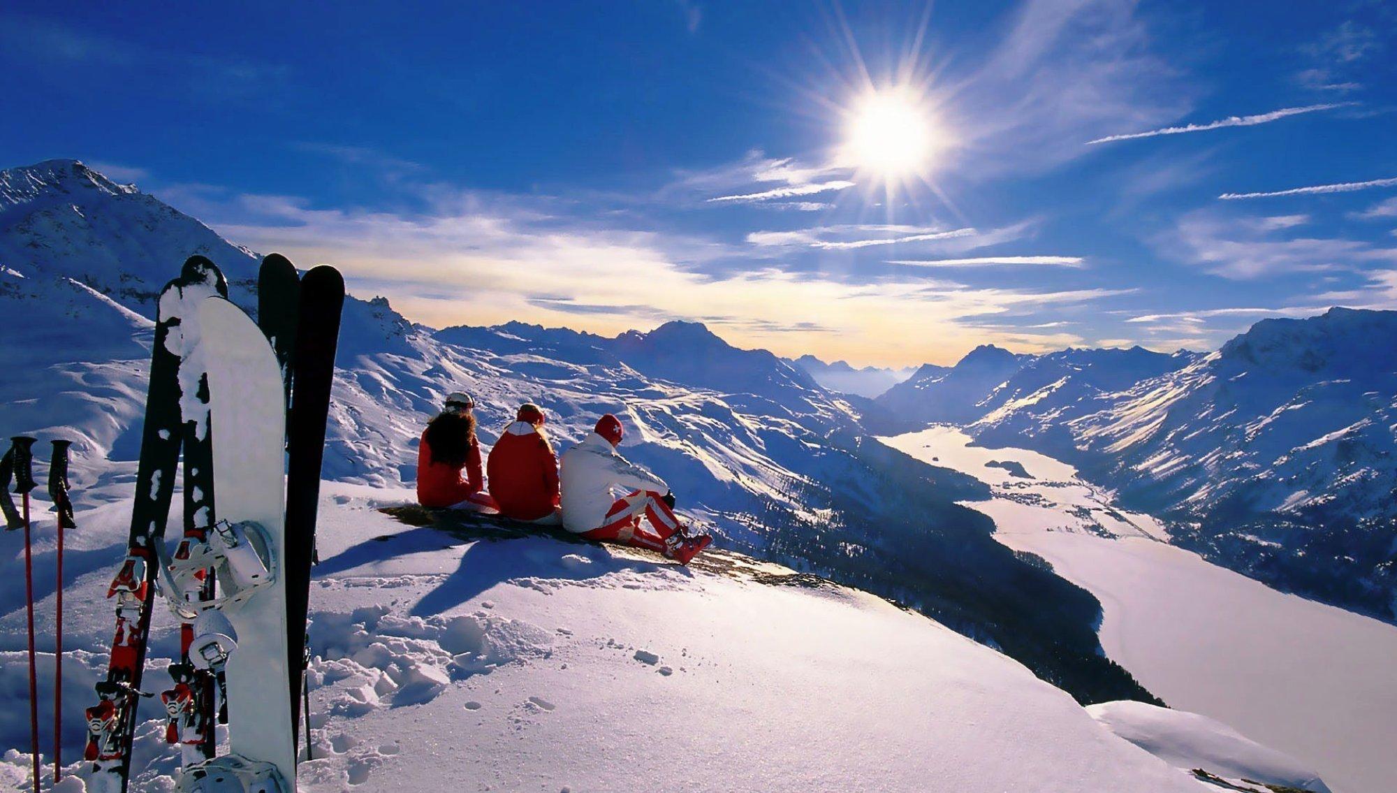 зимняя швейцария фото