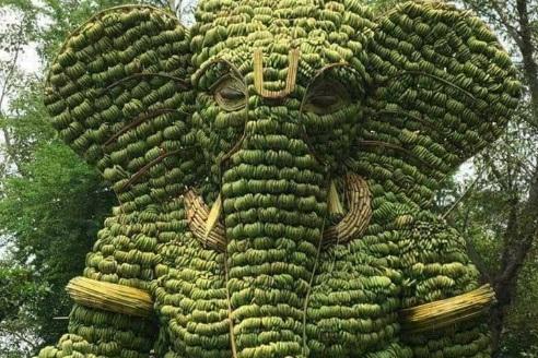слон Ганеша из миллиона бананов,Куда поехать на выходные в Индии Мумбаи