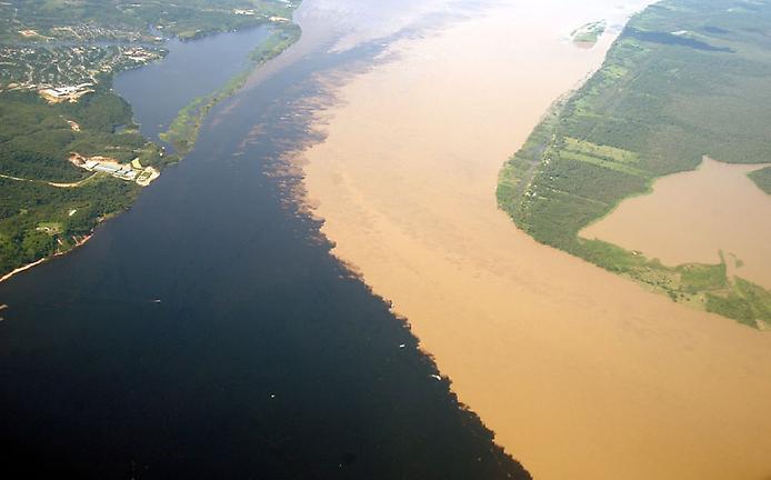 Куда поехать на выходные, куда поехать в Бразилии, куда поехать на выходные, слияние двух рек, слияние двух морей