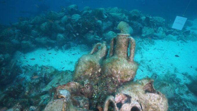 первый в мире подводный музей в Греции, подводный музей в Греции, корабль затонул остров Алонисос