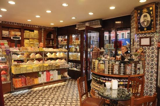 кафе Hafiz Mustafa 1864, адрес кафе и кондитерской Хафиз Мустафа 1864 в Стамбуле, где продают самые вкусные турецкие сладости в Стамбуле, как купить сладости Хафиз Мустафа 1864, Где Хафиз Мустафа 1864 в Стамбуле Х